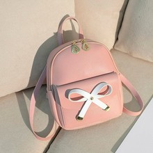 30# New Fashion Lady Shoulders Small Backpack Letter Purse Mobile Phone Student School Bag Bookbags