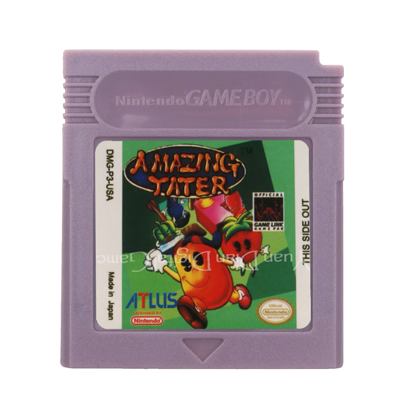 For Nintendo GBC Video Game Cartridge Console Card Amazing Tater English Language Version