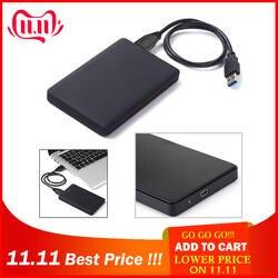 HDD чехол тонкий Портативный 2,5 HDD USB 2,0 внешний жесткий диск случае Sata к USB жесткие диски HDD чехол с USB кабель
