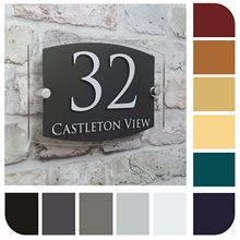 Customize Modern House Number Sign Address Door Plaque Property Name Street Plate Acrylic office sign custom made 2 tile address plaque in grey