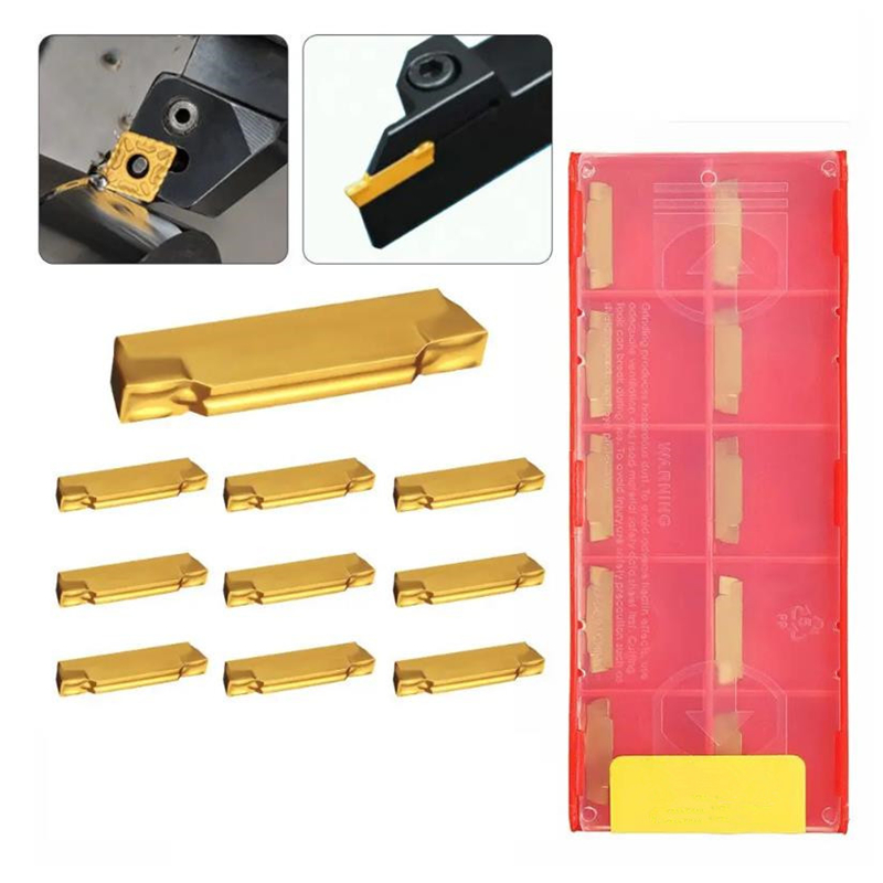 10pcs KDC Material MGMN200-G 2mm Carbide Inserts For MGEHR/MGIVR Grooving Cut Off Tool Turning Tool Suitable For MGEHR 1212-2