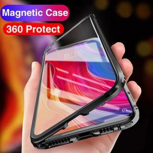 Image 5 - 360 adsorção magnética flip caso de telefone para xiaomi mi a3 10 pro 9 9 t frente caso capa traseira em xiomi redmi nota 9s mi10 pro meu t9