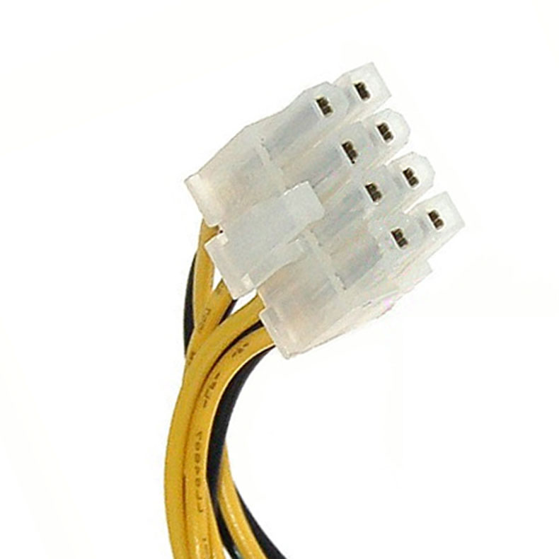 4 Pin Male to 8 Pin <font><b>CPU</b></font> Power Supply <font><b>Adapter</b></font> Converter ATX Cable 12V VDX99 image