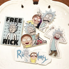 5Pcs/lot Cartoon Rick and Morty Badges Genius Mad Scientist Pins Buttons Brooch Anime Lovers Denim Shirt Accessories(China)