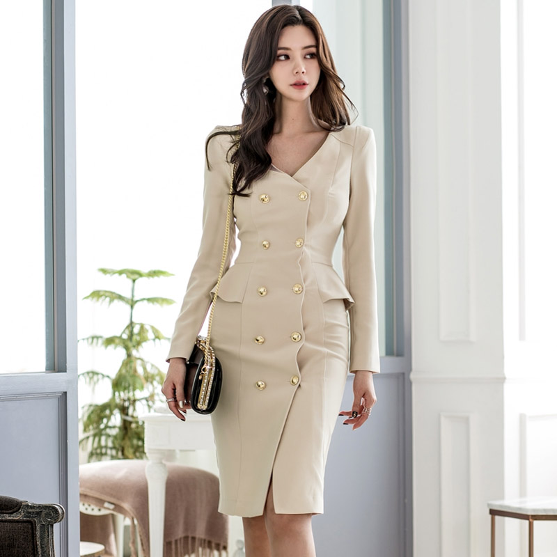 Fashion Dress Women Spring Dresse Casual Office Lady Elegant Business Party Bodycon Dress Vestidos Clothes