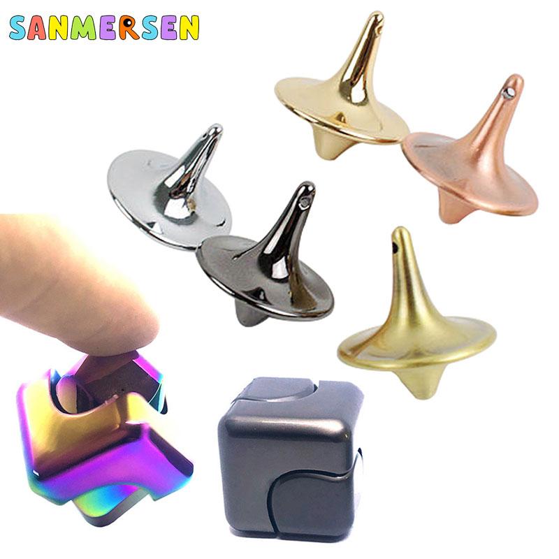 Fidget Spinner Fingertip Finger Top Gyro Toys Fidget Hand Spiner Spiral Desktop Anti Stress Adult Aluminum Alloy Finger Game