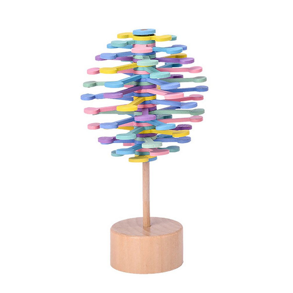 Vibrating Sound With Solid Wood Rotating Lollipop Fischer Series Creative Ornaments Decompression Toy Decompression