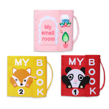 1pc Cute Cartoon Animal Pttern Handmade Felt Quiet Books Baby Early Cognitive Kid DIY Package Children Toys Gift