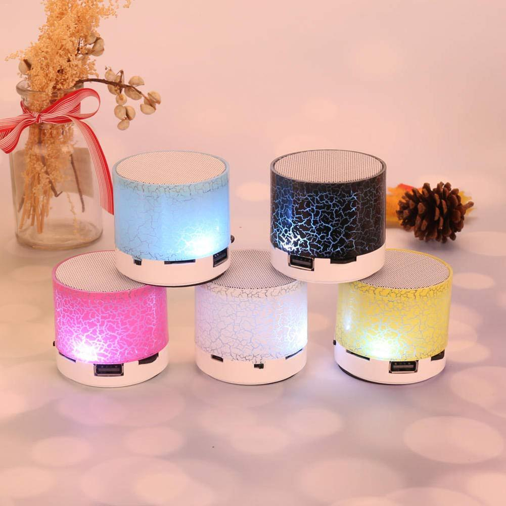 Wireless Bluetooth Colorful Light Small Crack Sound Speaker Audio Mobile Phone Mini Subwoofer Support TF Card / U Disk / AUX