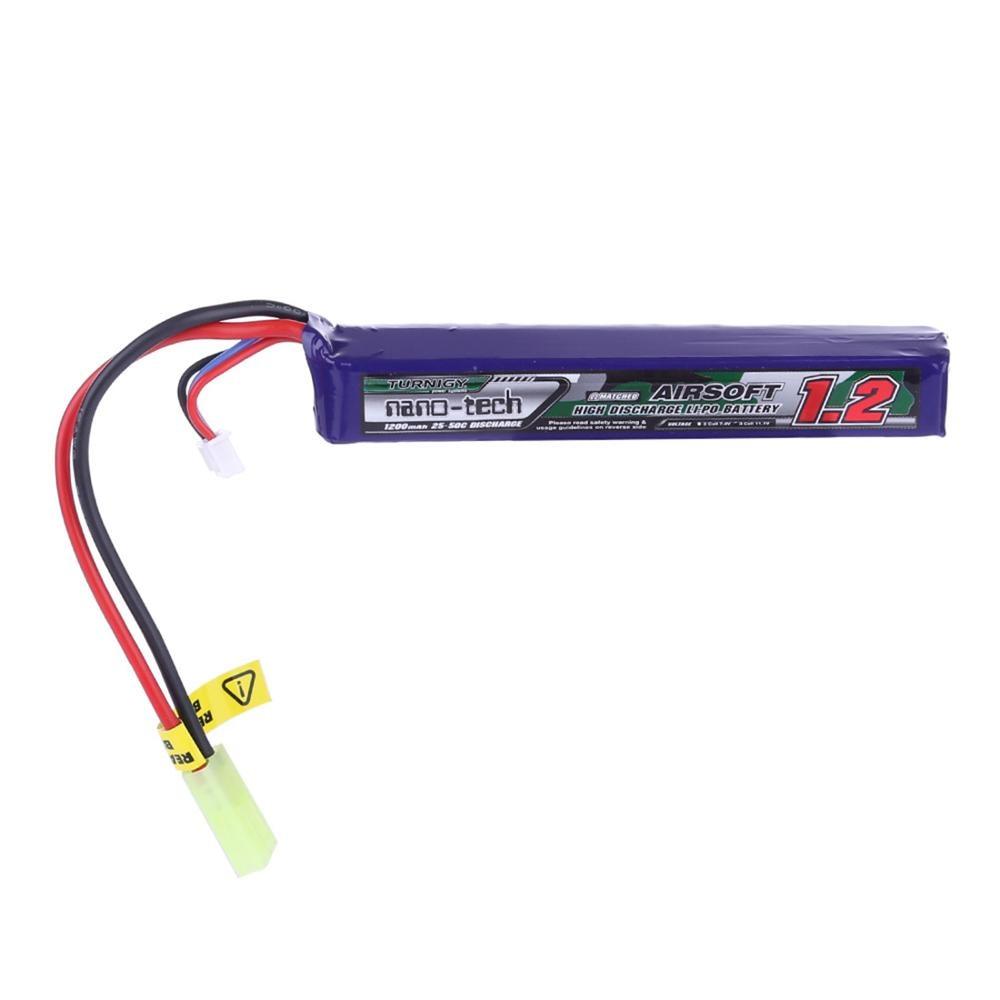 Stock Hobbyking Turnigy Nano-Tech 1200mah 11.1v 3cell 25-50c Li-On Battery For Foam Darts Blaster And Water Gel Blaster Beads