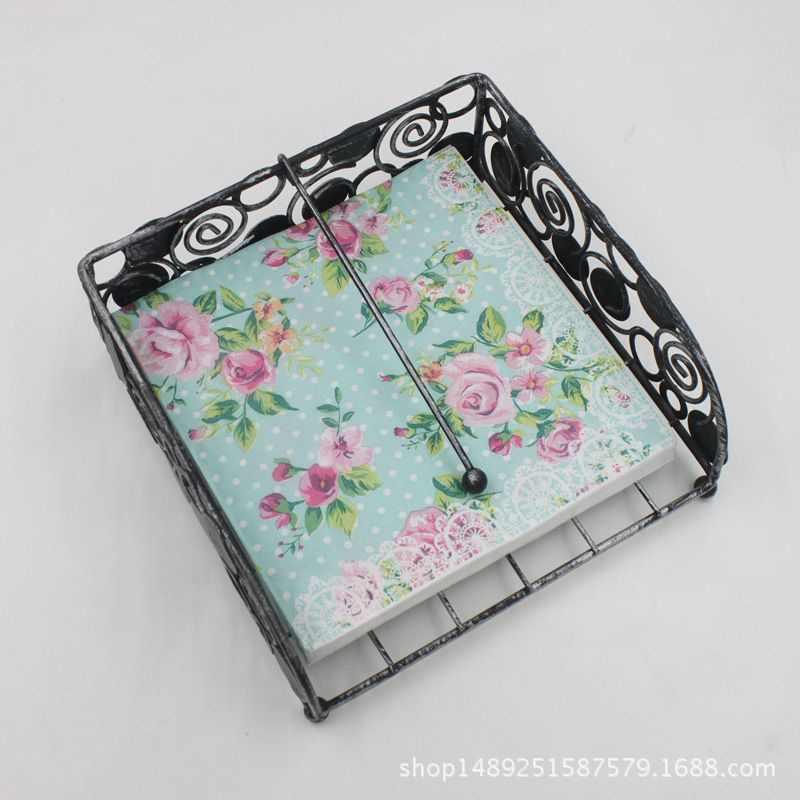 20 pcs/lot 33 cm * 33 cm imprimé caractéristique serviettes en papier Rose pour événement et fête décoration tissu Decoupage Servilleta