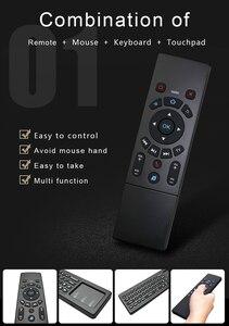 Image 2 - T6 2.4G mouche souris mini sans fil airmouse clavier avec pavé tactile 3 gyroscope 3 Gsensor IR apprentissage télécommande