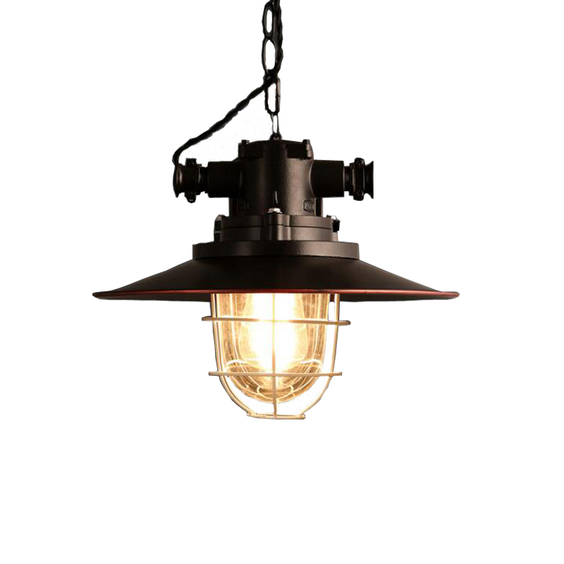 Amercian retro loft pendant lamp vintage chandelier Iron cafe study office restaurant dining room kitchen lighting lamps