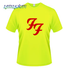 fashion men's T-shirt Hard Rock Roll Band T Shirts FF Letters Printed Dave Grohl Guitarist men's T-shirt wholesale(China)