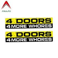 Aliauto 2 X Funny Car Sticker Creative 4 Doors 4 More Whores