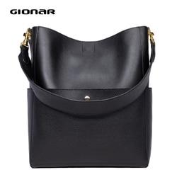 GIONAR RFID мягкая сумка-мешок из натуральной кожи женская дизайнерская сумка два комплекта сумочка из мягкой кожи большие сумки на плечо