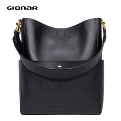 GIONAR RFID Designer Top Schicht Kuh Leder Eimer Tasche Echten Weichen Leder Große Tote Verbund Tasche Frauen Handcrafted Handtaschen