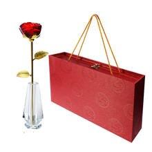 Длинный Стебель Хрустальное стекло роза цветок фигурки ремесло