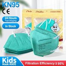 Children Mask FFP2 Mask Kids Approved Fpp2 Mask Kn95 Protection Mouth Mask 5Layerd mascara facial FPP3 Face Mask ffp2mask niños