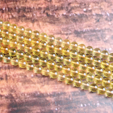 Citrine Natural Stone Beads Loose Stone Beads For Jewelry Making DIY Bracelets Necklace Accessories 4/ 6/8/10mm