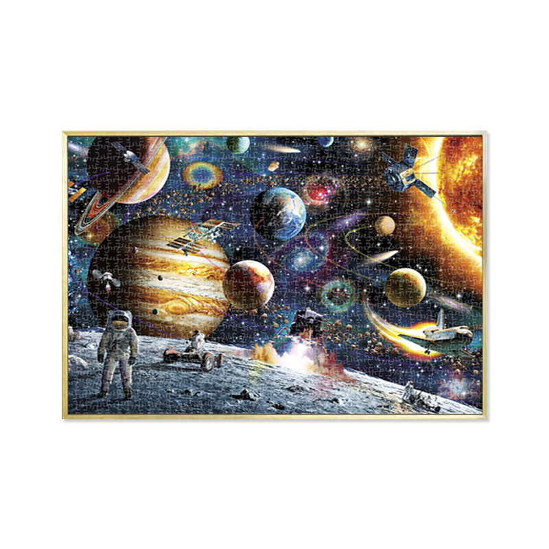 Mini 1000 Pieces Jigsaw Puzzles Educational Toys Scenery Space Stars Educational Puzzle Toy For Kids/Adults Birthday Gift