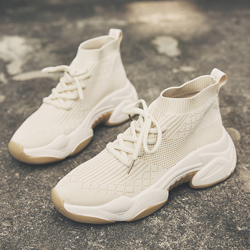 Fashion Platform dames Sneakers Chunky Autumn Sock Breathable Women Shoes Sneakers2019