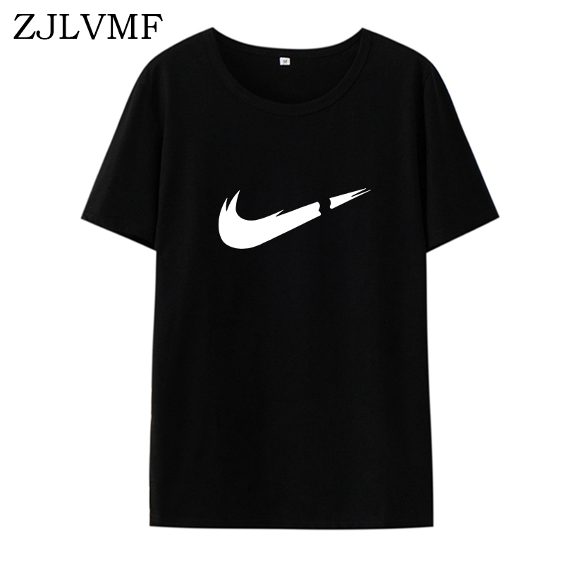 Zjlvmf Women Clothes 2019 New Harajuku Cotton Vogue Breathable Short Sleeve Casual Summer Large Size Printed O-neck Tshirt Women