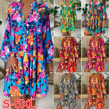 Print Floral Maxi Dress Women Plus Size