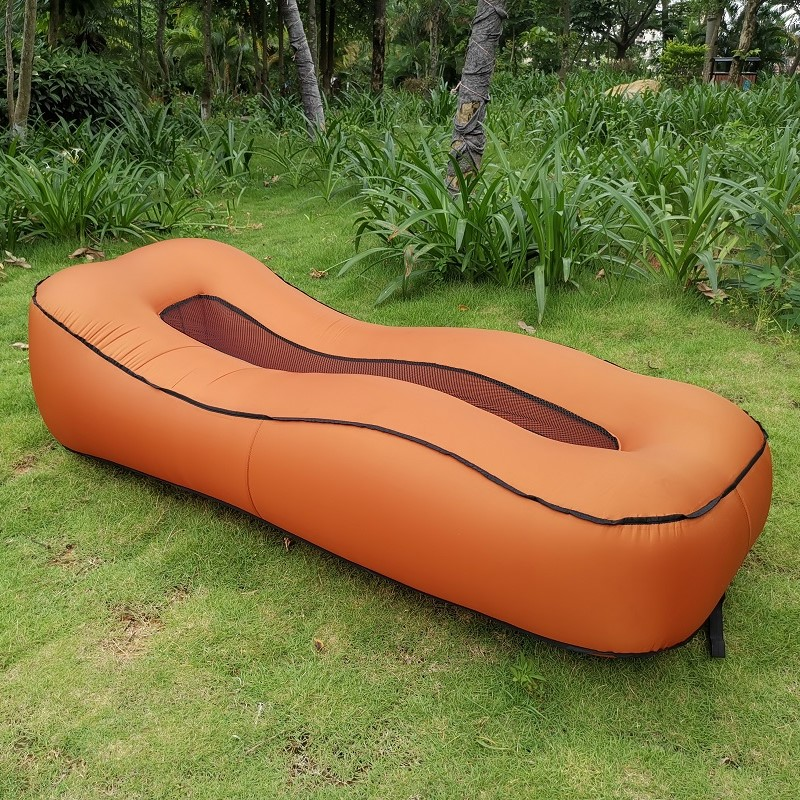 Outdoor Folding Inflatable Sofa Bed Nylon Waterproof  Air Couch Beach Lounger Outside Garden Furniture Office Sleeping Daybed