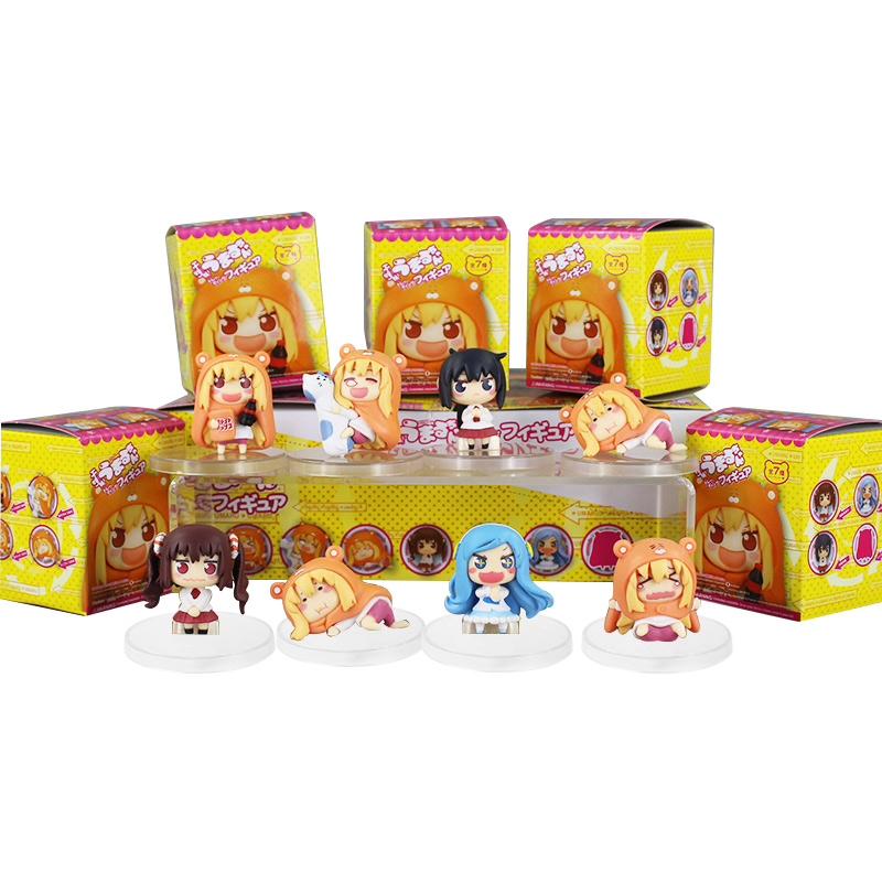 Color Bxoed 8pcs/lot Anime Small Buried Sankaku Head Himouto! Umaru-chan Umaru Doma PVC Figure Doll Toy