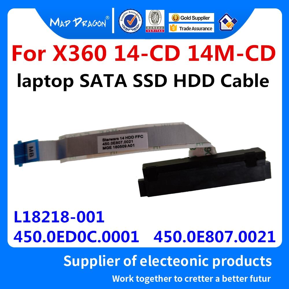 NEW Hard Drive SATA HDD SSD Cable For HP Pavilion 14-CD X360 14M-CD 14-CD054TU CD023TX 450.0ED0C.0001 450.0E807.0021 L18218-001