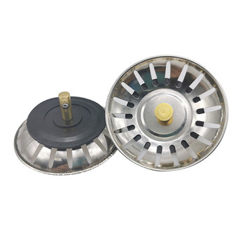 1-2 Pcs Stainless Steel Kitchen Sink Strainer Stopper Waste Plug Filter Bathroom Basin Drain Deodorization Accessories - discount item  49% OFF Bathroom Fixture