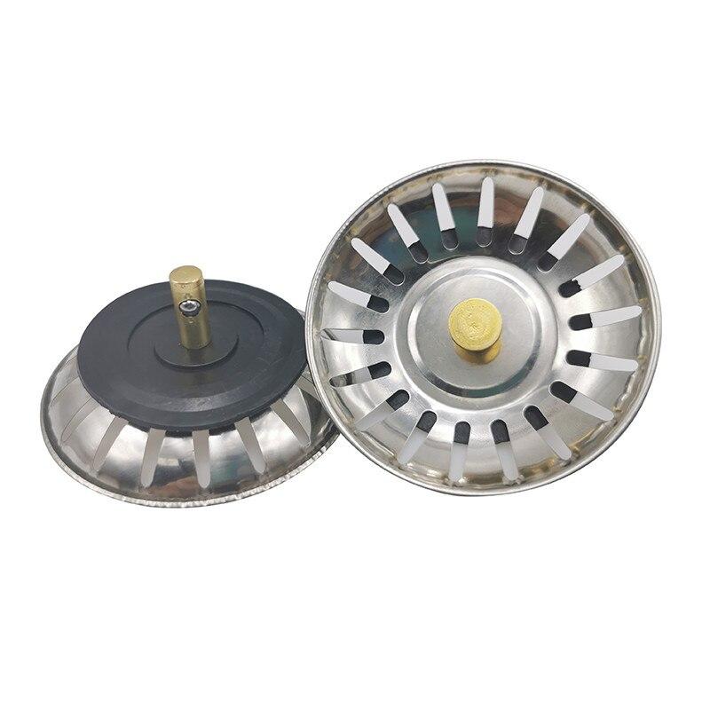 1 Pcs Stainless Steel Kitchen Sink Strainer Stopper Waste Plug Sink Filter Bathroom Basin Sink Drain Deodorization Accessories
