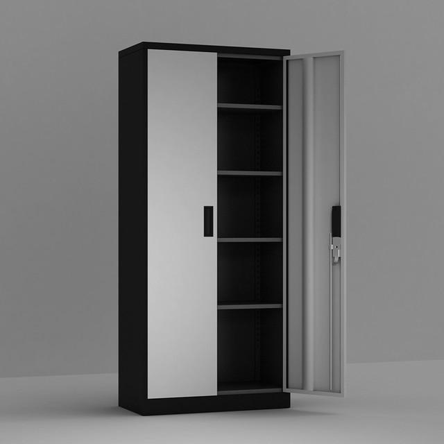 Steel Storage Cabinet , 5 Shelf Metal Storage Cabinet with 4 Adjustable Shelves and Lockable Doors 6