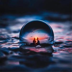 Image 2 - Boule de lentille de cristal de photographie de 60mm 80mm boule de verre magique claire de Quartz asiatique avec le sac portatif pour le tir de Photo