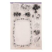 Прозрачные штампы цветы рамка прозрачные резиновые силиконовые