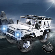 Remote Control Off-Road Vehicle Building Blocks Assembled Electric Remote Control Car Model Children DIY Building Blocks Car Toy