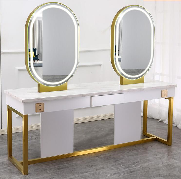 Hairdresser's Mirror Salon With Lamp Modern Hairdresser Mirror