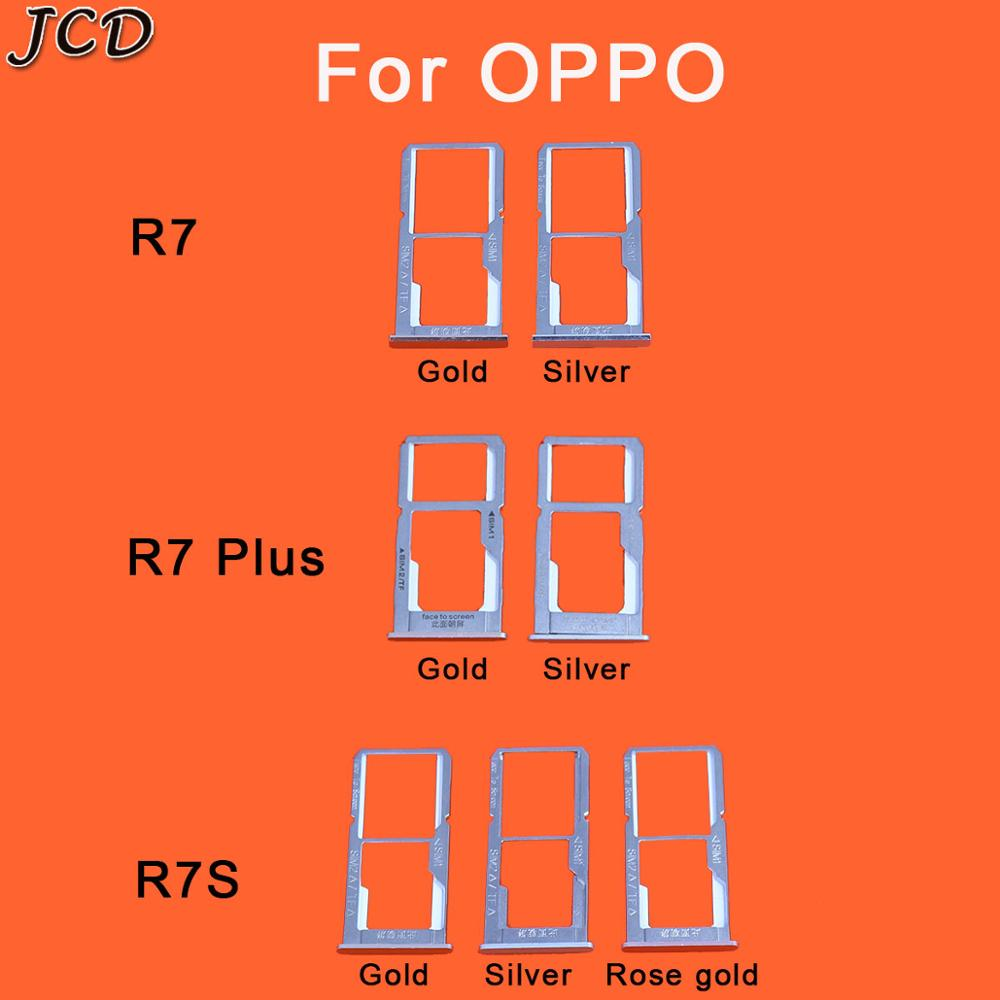 JCD SIM Card Tray Slot Holder Adapter For OPPO R7 Plus R7s R7Plus Replacement Repair Parts Quality Phones Accessories