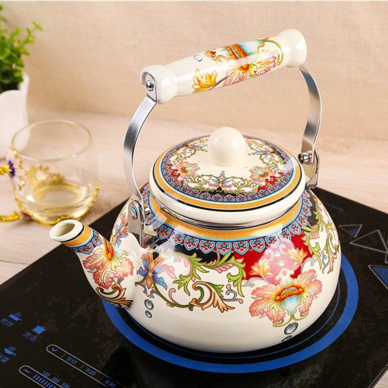 Ceramic Teapot Kitchen Boiled Tea  Ceramic Teapot  Porcelain Kettle  A Lot Of Choice Colors