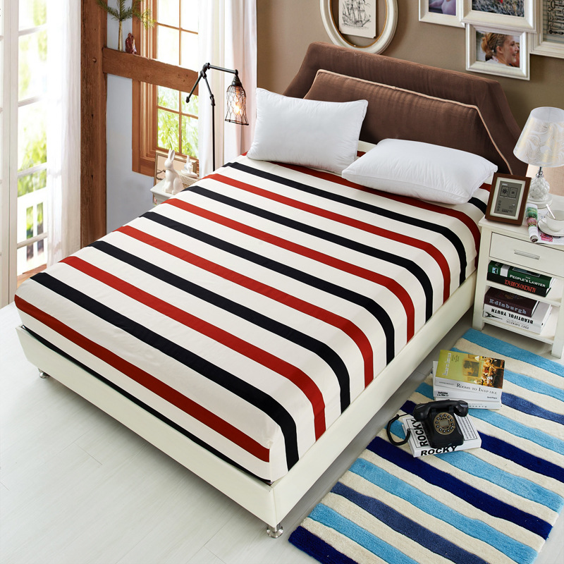 24 Color Select Polyester Elasticity Mattress Cover Microfiber Mattress Protector Bed Bug Proof Mattress Pad Cover