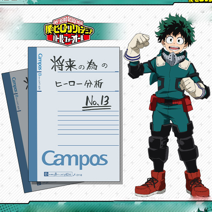Action Midoriya Izuku Notebook Analysis Of Future Heroes 30 Pages Notebook Anime Toys For Children My Hero Academia Deku Book