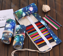 Manual creative universe Galaxy curtain male and female pen bag large capacity students canvas lead box art color painting