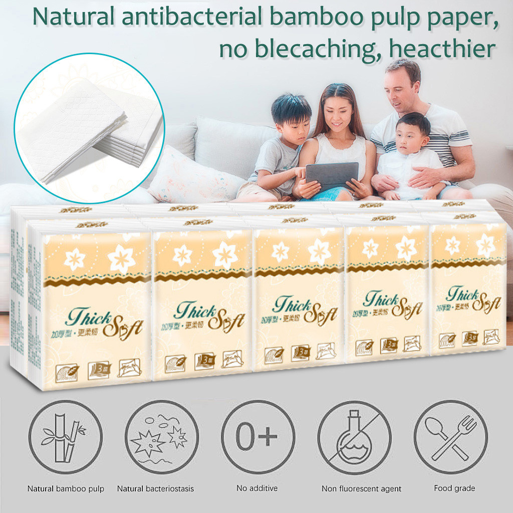 Soft Pumping Paper 3 Layers Paper Towel For Kitchen 10 Packs Baby Adult Wettable Toilet Paper Household Napkin #3