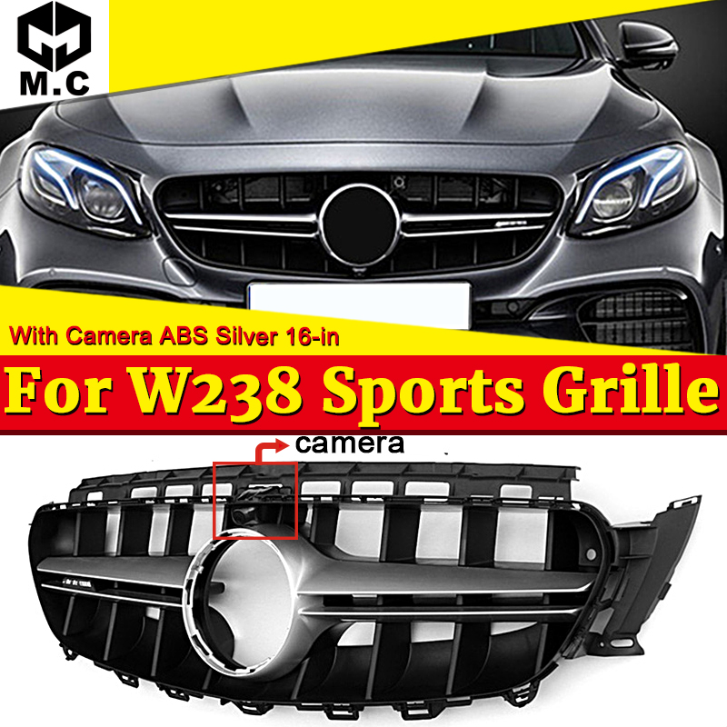 W238 E63 Style Front Grille Fit for MercedesMB E Class Sport without sign E180 E200 E250 E300 E350 E400 E63AMG Look Grills 2016+ image