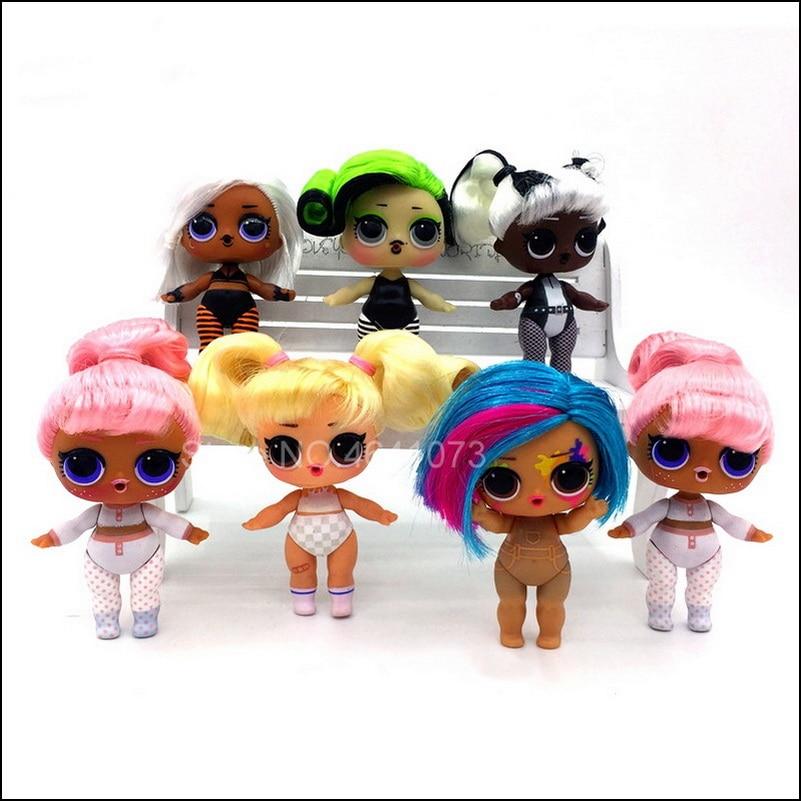 Оригинальные куклы-сюрпризы LOL 8 см, оригинальные цели волос с аксессуарами, игрушки для девочек, подарки на Рождество и день рождения