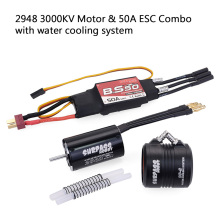 Moteur DIY 600-800mm RC Boat Parts 2948 2958 2968 3000KV 3450KV 3380KV 2800KV Brushless Motor 50A 70A Waterproof ESC Water Cooli