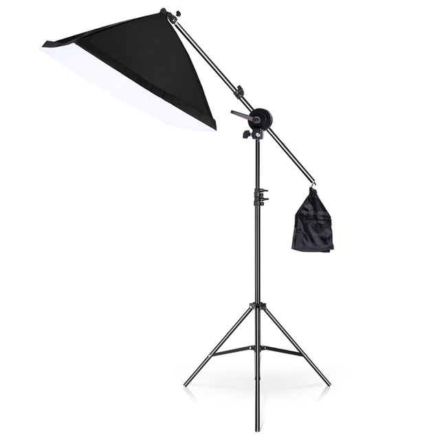 20 Вт светодиодный комплект непрерывного освещения для студии Boom Arm 50x70 см софтбокс для фотосъемки освещение и фото оборудование для видеосъемки