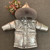 New winter 2019 baby warm down jacket for boys and girls Natural fur collars