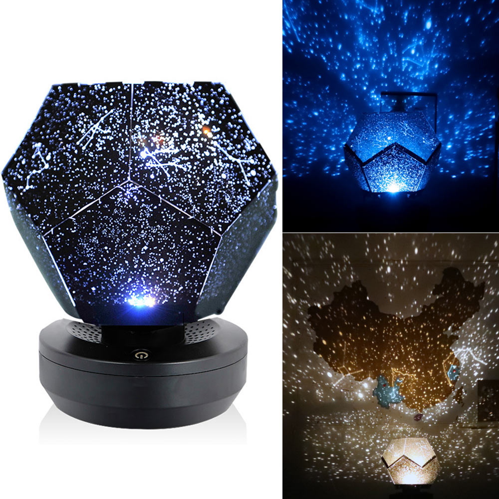 Christmas 60000 Stars Starry Sky Projector Light DIY Assembly Home Planetarium Lamp Bedroom Decoration lighting YU Home|Glow Party Supplies| |  - title=